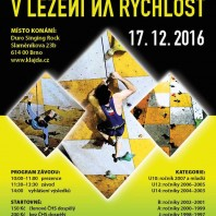 """17 grudnia 2016 odbędą się """"Mistrovství ČR v lezení na rychlost"""" czyli Mistrzostwa Czech we wspinaczce na czas"""