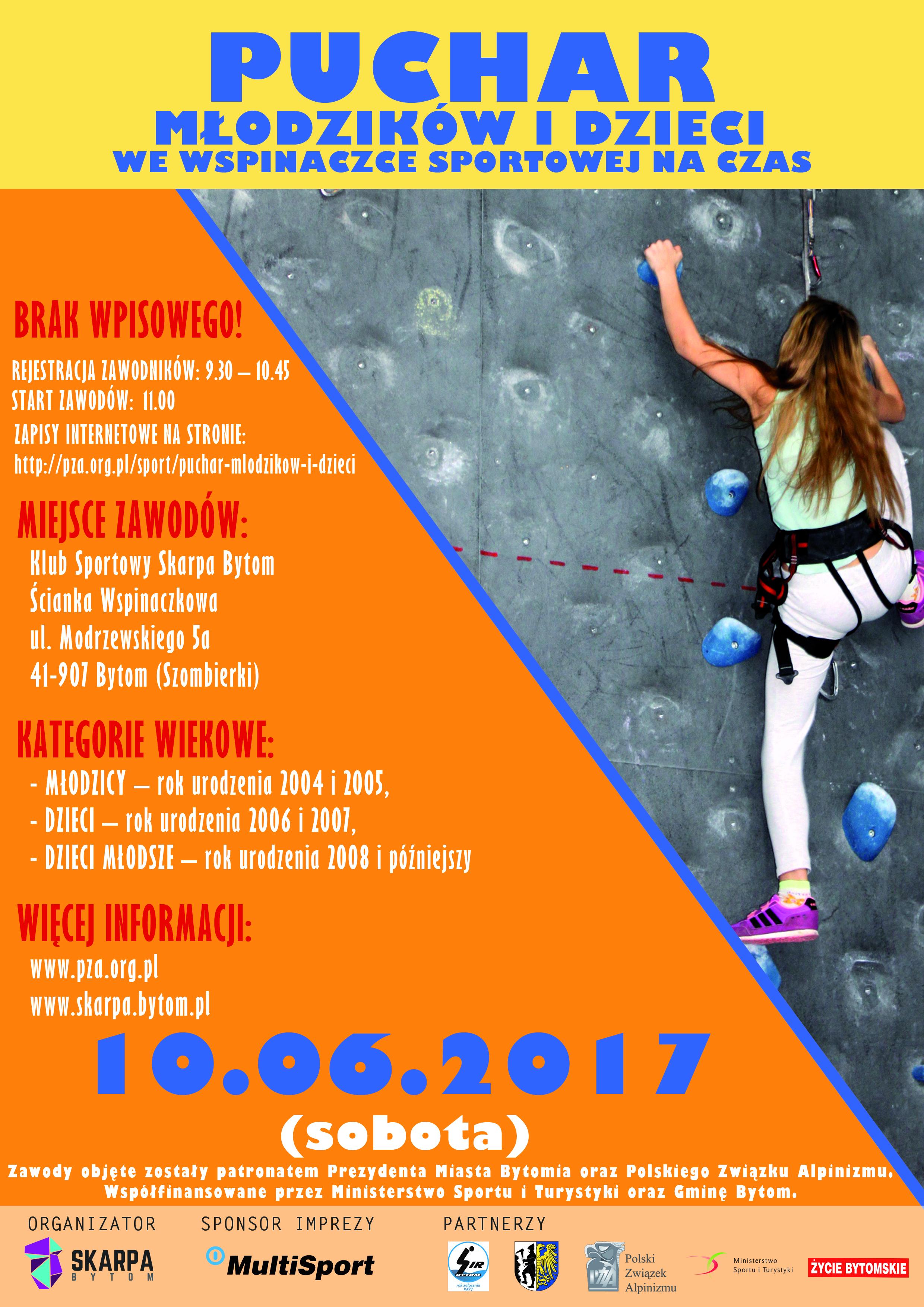 Puchar Mlodzikow I Dzieci Bytom 10 06 2017 Polski Zwiazek Alpinizmu