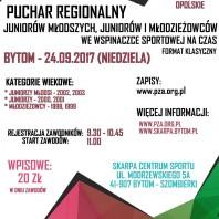 Puchar Regionalny Juniorów Młodszych, Juniorów i Młodzieżowców – BYTOM 24.09.2017