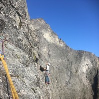 14th pitch of Norwegian Route on Troll Wall