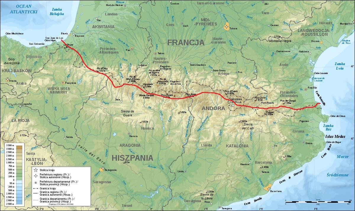 trawers_Pirenejów_mapa